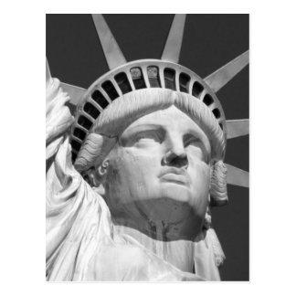 Estatua de la libertad negra y blanca tarjetas postales