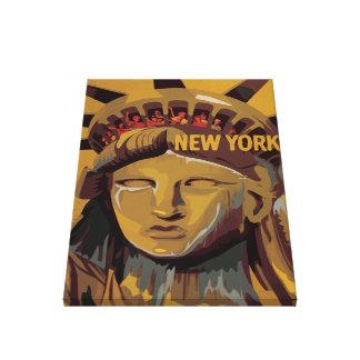 Estatua de la libertad - New York City Impresión En Lona Estirada