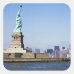 Estatua de la libertad, New York City, Nueva York Pegatina Cuadrada