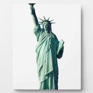 Estatua de la libertad New York City NYC Placa De Plastico