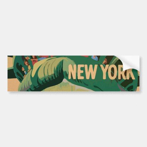 Estatua de la libertad - New York City Pegatina Para Auto