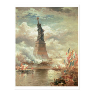 Estatua de la libertad Nueva York circa 1800 s Tarjetas Postales