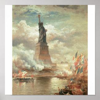 Estatua de la libertad, Nueva York circa 1800's Impresiones