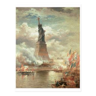 Estatua de la libertad, Nueva York circa 1800's Postal