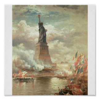Estatua de la libertad, Nueva York circa 1800's Póster