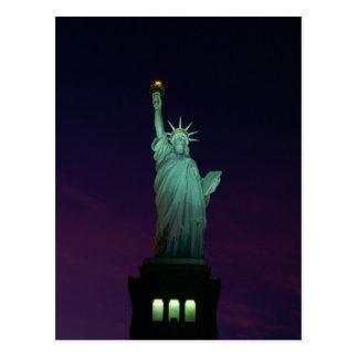 Estatua de la libertad, Nueva York, los E.E.U.U. 7 Tarjeta Postal