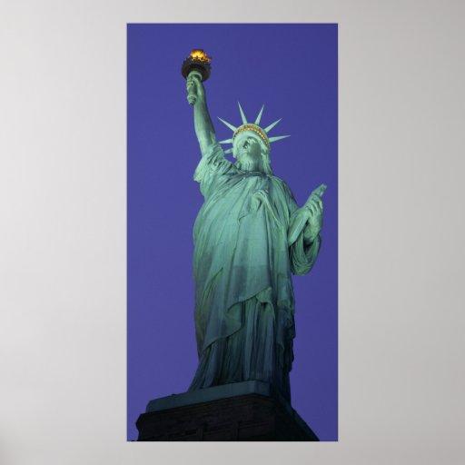 Estatua de la libertad, Nueva York, los E.E.U.U. Poster