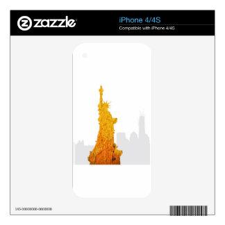 Estatua de la libertad, Nueva York Skin Para El iPhone 4S