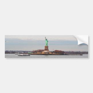 Estatua de la libertad - NY Nueva York Etiqueta De Parachoque
