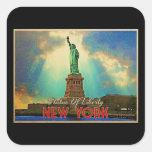 Estatua de la libertad NYC Calcomanía Cuadrada