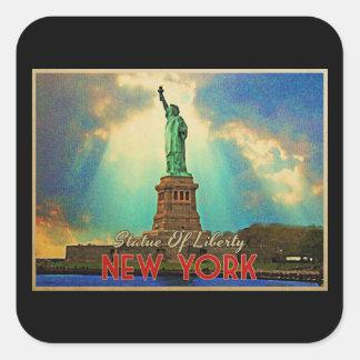 Estatua de la libertad NYC Pegatina Cuadrada