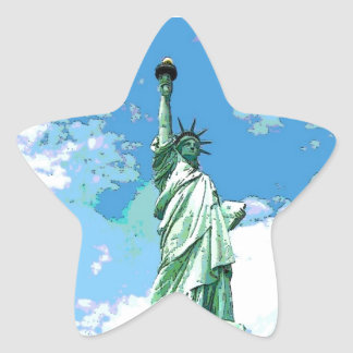 Estatua de la libertad calcomanía cuadrada