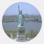 Estatua de la libertad pegatinas redondas