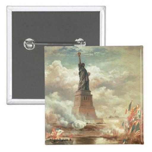 Estatua de la libertad pin cuadrado