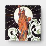 Estatua de la libertad placa
