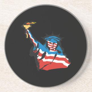 Estatua de la libertad posavasos personalizados
