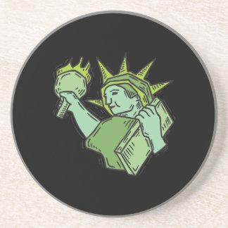 Estatua de la libertad posavaso para bebida