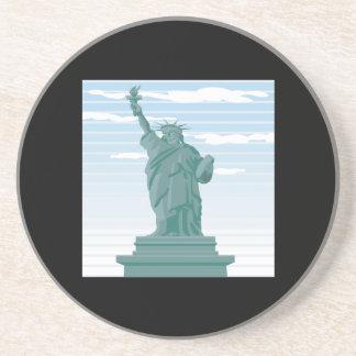 Estatua de la libertad posavasos diseño
