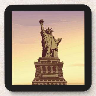 Estatua de la libertad posavasos de bebida