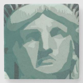Estatua de la libertad posavasos de piedra