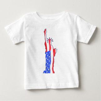 estatua de la libertad, rayas de las estrellas, camisas