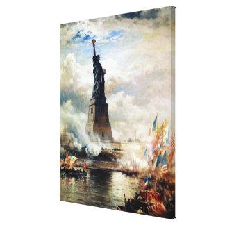 Estatua de la libertad revelada por Edward Moran Lona Envuelta Para Galerías