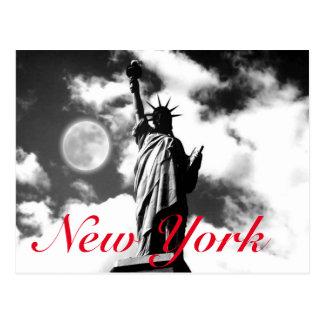 Estatua de la libertad roja blanca negra New York Postal
