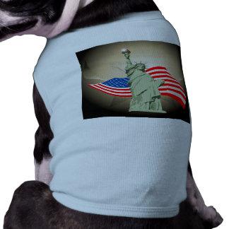 Estatua de la libertad camisas de mascota