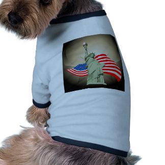 Estatua de la libertad camisetas mascota