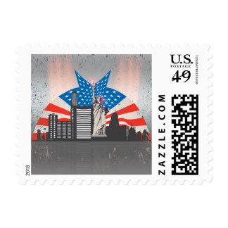 Estatua de la libertad sello