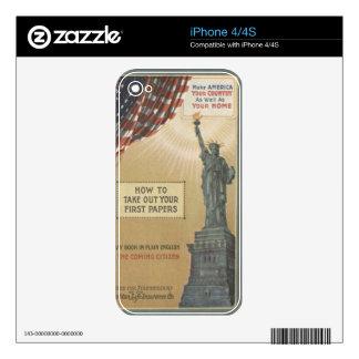 Estatua de la libertad skin para el iPhone 4