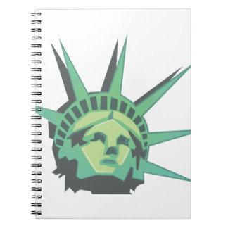 Estatua de la libertad spiral notebook