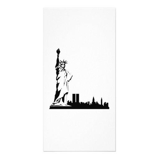 Estatua de la libertad tarjetas fotograficas personalizadas