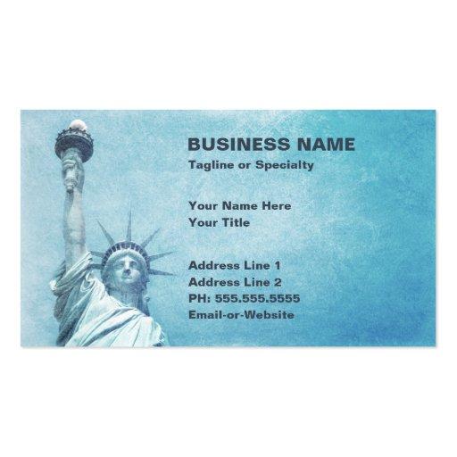 estatua de la libertad tarjeta de visita