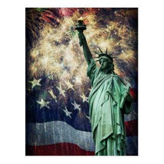 Estatua de la libertad tarjeta postal