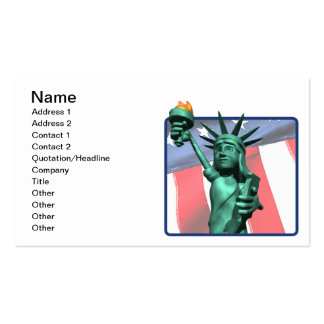 Estatua de la libertad tarjetas de visita