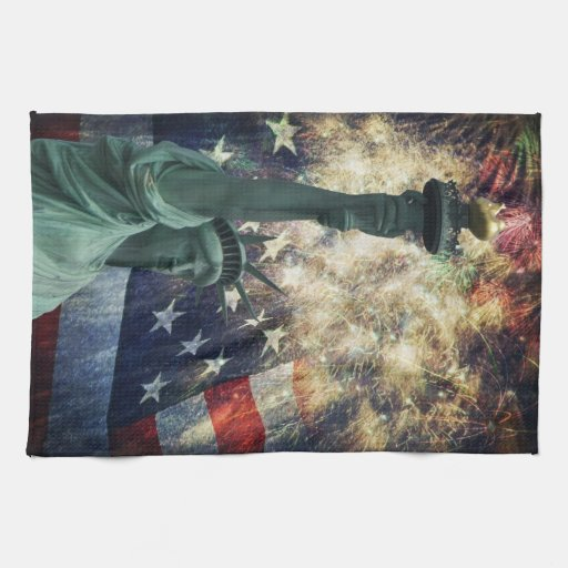 Estatua de la libertad toalla de mano
