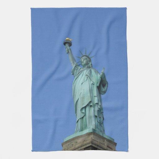 Estatua de la libertad toallas de cocina