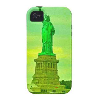 Estatua de la libertad verde iPhone 4 carcasas