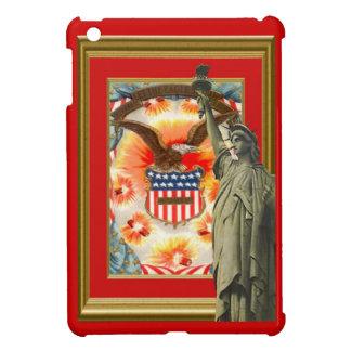 Estatua de la libertad y águila calva iPad mini protector