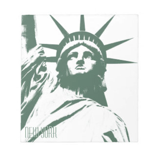 Estatua de la libreta del recuerdo de Nueva York d Blocs De Notas