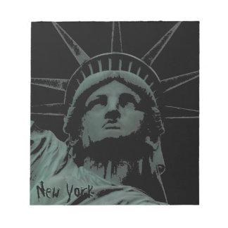 Estatua de la libreta del recuerdo de Nueva York d Blocs De Papel