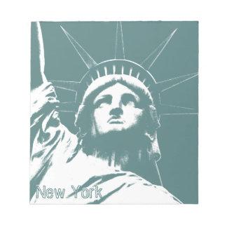 Estatua de la libreta del recuerdo de Nueva York Libretas Para Notas