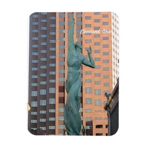 Estatua de la paz, imán de la alameda C de Clevela