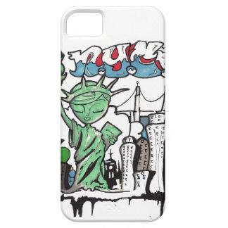 Estatua de la pintada de la libertad iPhone 5 funda