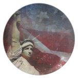 Estatua de la placa de cena de encargo de la liber platos de comidas