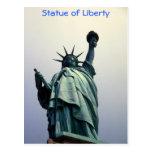 Estatua de la postal de la libertad