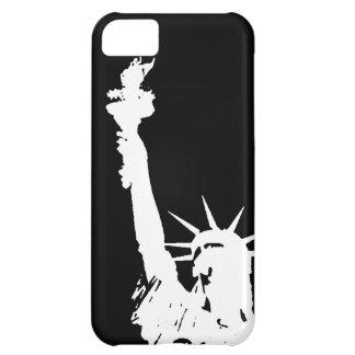 Estatua de la silueta de la libertad carcasa para iPhone 5C