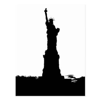 Estatua de la silueta de la libertad postal