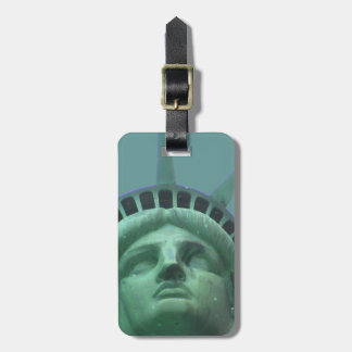 Estatua de las etiquetas del equipaje de la libert etiquetas bolsa